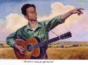 Woodie Guthrie from Oklahoma State Capital